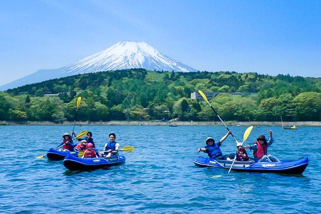 【初めての方歓迎】富士山を目の前に望む、極上のカヌー体験