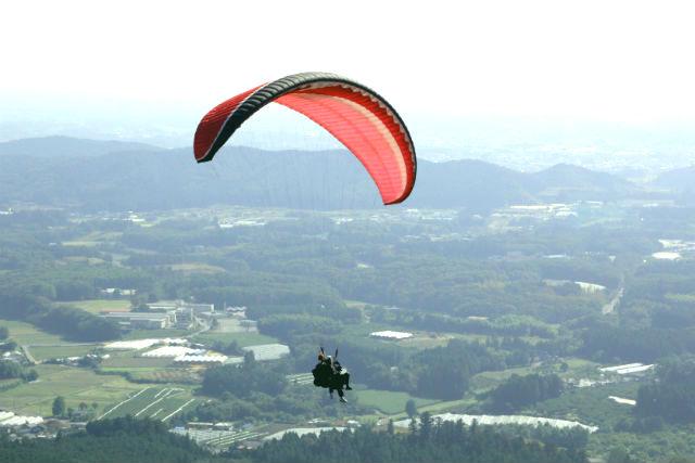【栃木・宇都宮・パラグライダー】地上300mからの空の旅!パラグライダータンデム体験