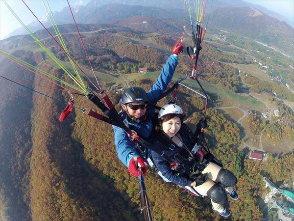 【長野・白馬・パラグライダー】タンデムフライトで標高1,380mからのテイクオフ!