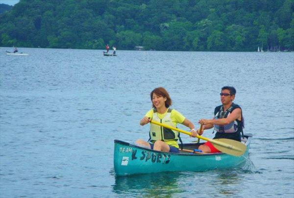 【半日】2人乗りカナディアンカヌーで野尻湖ショートツーリング!★ドリンクプレゼント