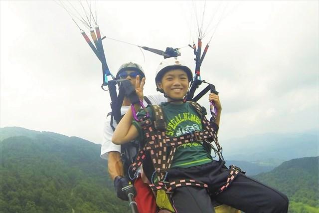富山・タンデムフライト(フライト時間・約10分・標高1,000m)★コシヒカリプレゼント