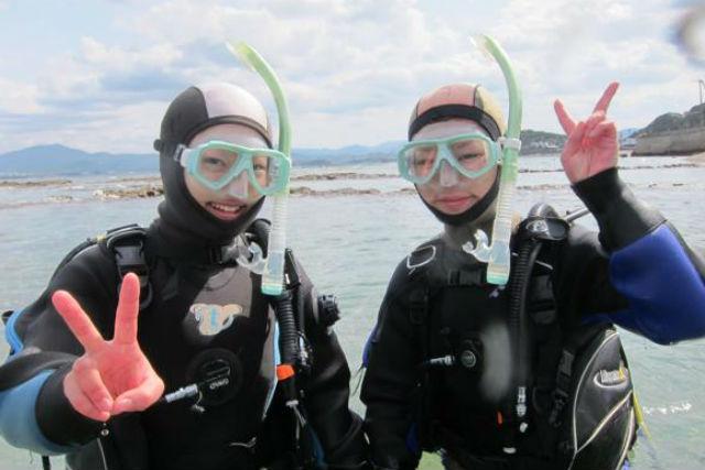 【和歌山・ファンダイビング】南国気分が味わえる!南紀白浜の海でビーチファンダイビング