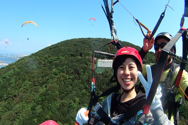 【愛知・岡崎・パラグライダー】鳥になった気分で、大空へ飛び立とう!タンデムフライト