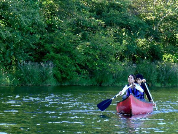 洞爺湖カヌーでピクニック