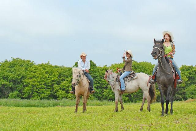 【騎乗時間30分】小学1年生からOK!家族でも楽しめる函館お散歩乗馬!