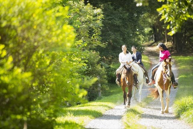 【山梨・乗馬】究極のヒーリング体験!レッスン&ミニトレッキングで、やさしい馬との触れ合いを楽しもう