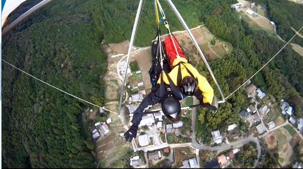 【茨城・ハンググライダー】初心者も安心!一緒に空中さんぽするタンデムプラン