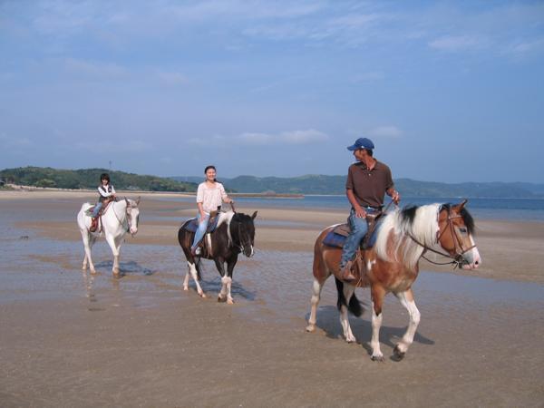 【長崎・平戸・乗馬体験】湖風を感じよう!千里が浜を優雅にホーストレッキング!★写真プレゼント