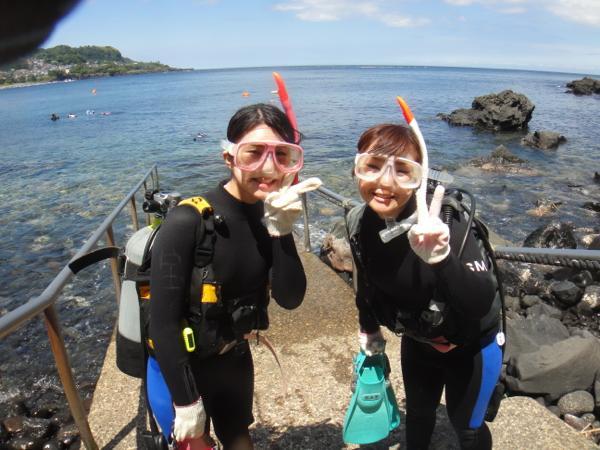 【伊豆・ダイビング・1or2ビーチ】ブランクがある方向けだから安心!リフレッシュダイビングプラン