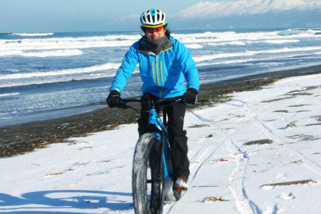 【北海道・知床・マウンテンバイク】冬の絶景を見に行こう!ファットバイクで走る能取岬コース