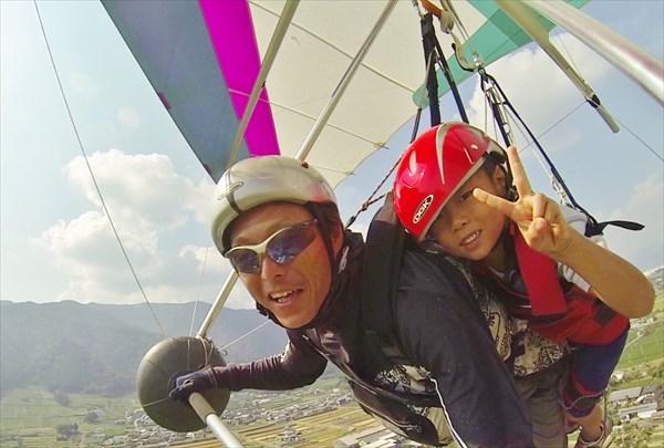 【タンデム】インストラクターと一緒に飛ぶハンググライダー・タンデムフライト(動画撮影&動画DVDプレゼント付)