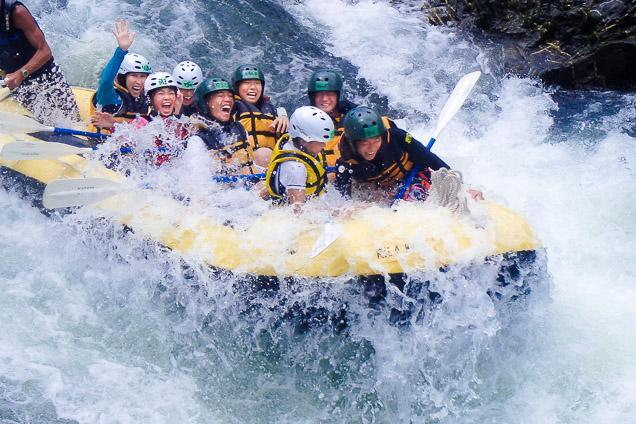 京都・保津川・のんびりラフティング(10:30・250分・川を貸切)