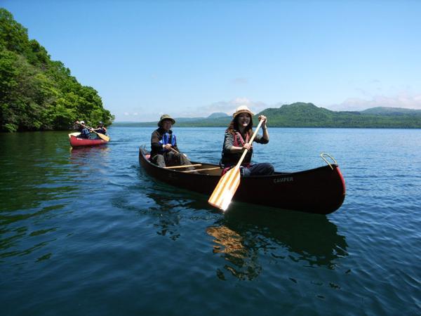【北海道・屈斜路湖・半日・カヌー】和琴半島を、カヌーに乗ってぐるっと一周!屈斜路湖半日レイクツアー