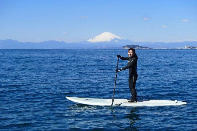 【神奈川・逗子・SUP】期間限定の特典つき!逗子海岸で半日SUP体験