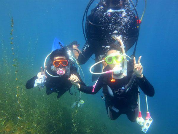 【北海道支笏湖・体験ダイビング】9年連続水質日本1位!クリスタルブルーの支笏湖でダイビング