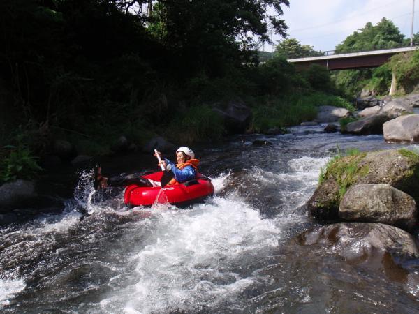 【半日・午前or午後】チュービングをコントロールして川下りに挑戦!