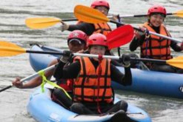 【熊本・ダッキー・PM】少しの波でも大迫力!球磨川急流でのダッキー体験