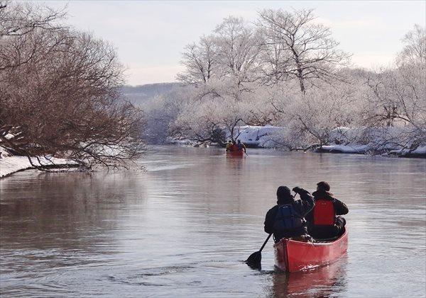 【北海道・釧路川・冬季限定・カヌー】冬の釧路湿原を、遊びつくそう!カヌー&スノートレッキングプラン