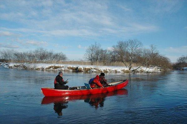 【北海道・釧路・カヌー】冬季限定!白銀の雪景色を見ながら川下りしよう!★写真プレゼント