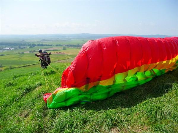 【北海道・豊頃町・パラグライダー】自分1人で宙に浮こう。パラグライダー体  験レッスン(2時間)
