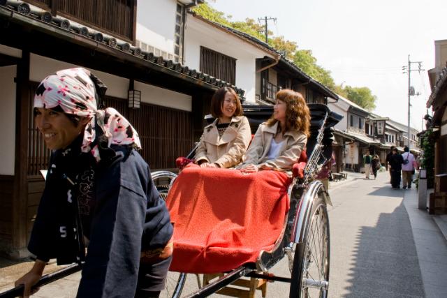 【岡山・倉敷・人力車・120分貸切】風情感じる人力車の旅。江戸情緒あふれる倉敷へ