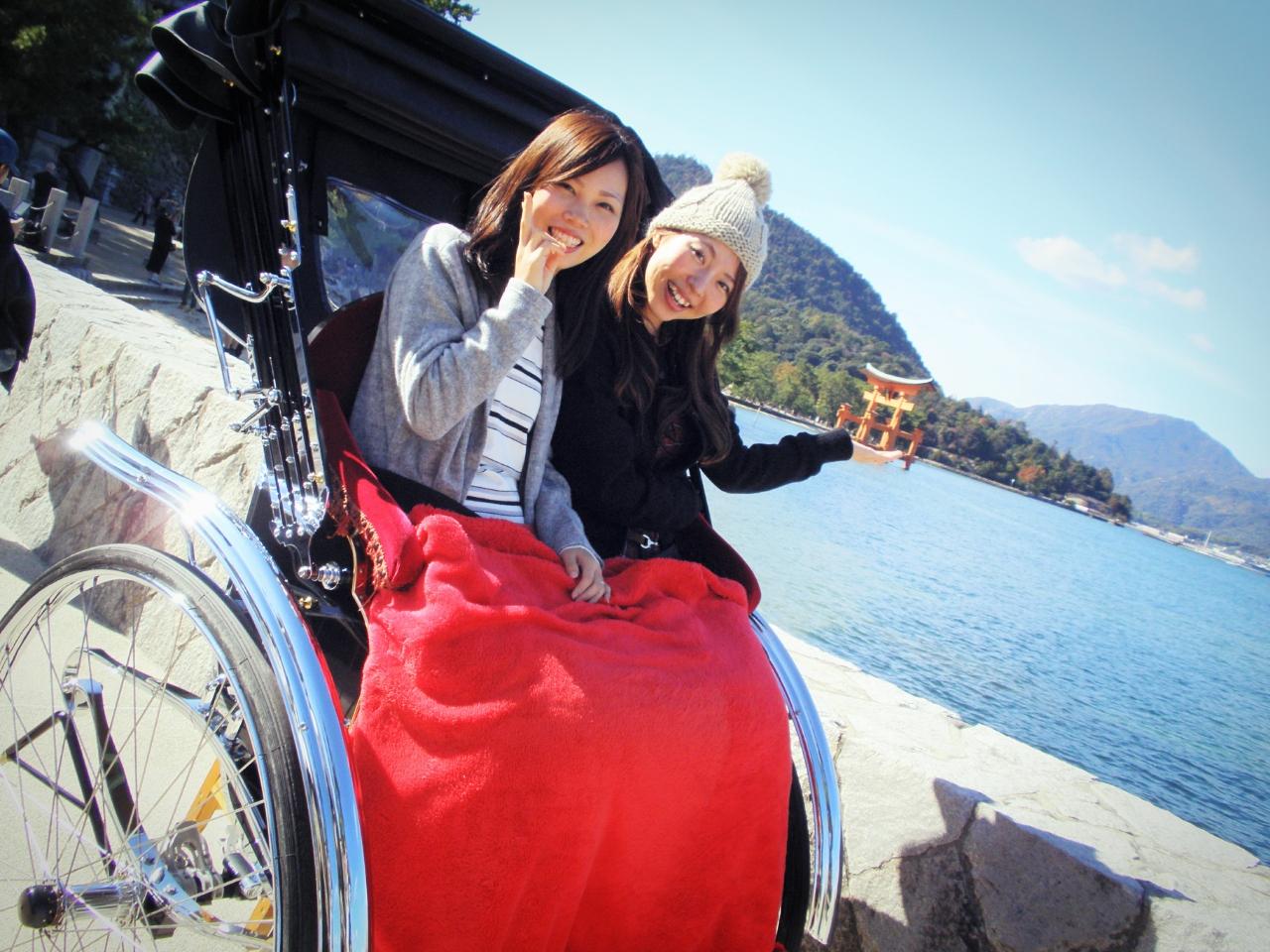 【広島・宮島・人力車・120分貸切】日本三景の一つ、宮島の神秘を満喫!人力車・宮島120分コース