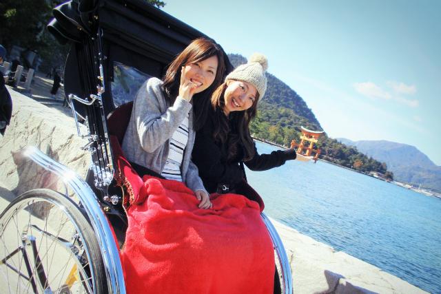 【福岡・北九州・人力車・60分貸切】関門海峡を望む雄大な景色を、人力車からの眺めで体感!