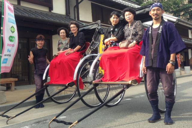 【福岡・人力車】博多人力屋のフルコースプラン!博多の町を贅沢に巡る80分!
