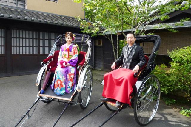 【小布施・婚礼人力車・2名様】 歴史ある小布施を一人一台、人力車で観光!
