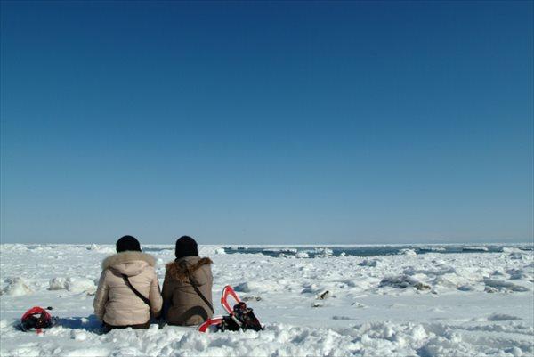 【網走・ガイドツアー】流氷と氷瀑に出会うスノーシュートレッキング