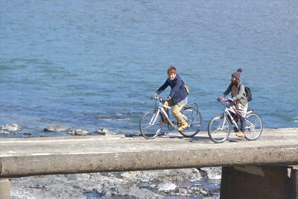 【高知県四万十川・レンタルサイクル】自転車で巡る四万十川。気持ちいい風を感じよう!
