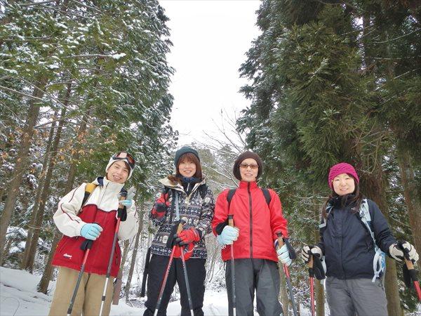 【初心者・小学生以上OK!】関西の秘境・芦生の森スノーハイク★ランチ付