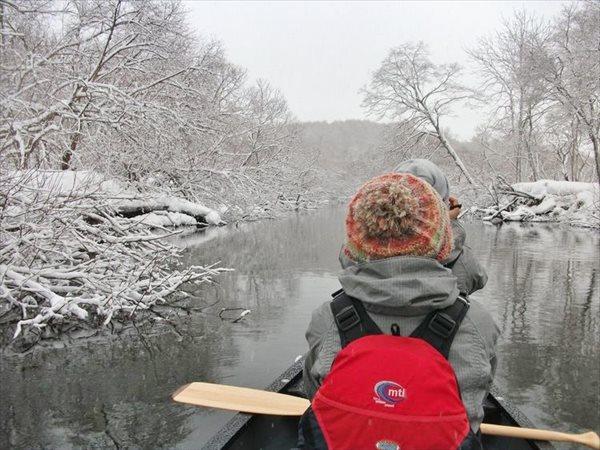 【北海道・釧路・スノートレッキング】白銀の世界に感動!冬の釧路湿原をカヌーで冒険しよう!