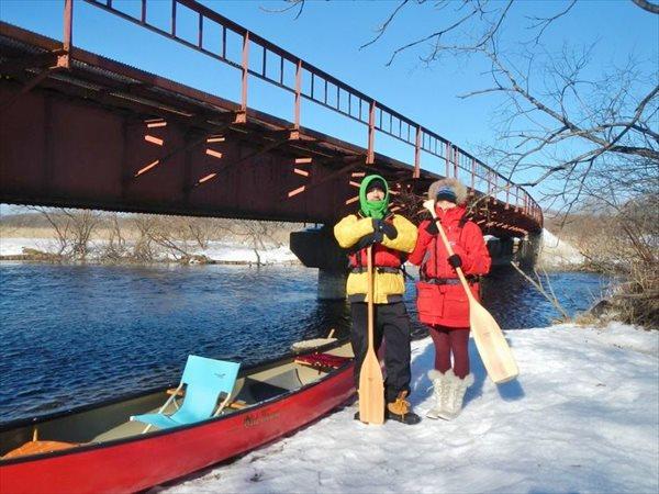【北海道・釧路・スノートレッキング】アレキナイ川を往復&スノーシュートレッキングプラン