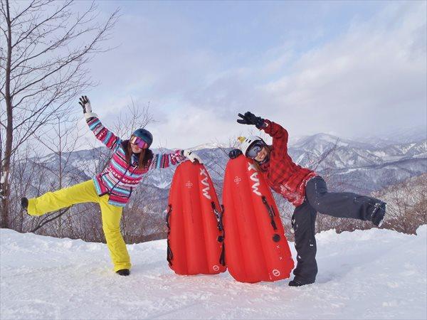 【群馬・みなかみ・エアボード・半日】まずは体験!最新のスノーアクティビティ「エアボード」に挑戦☆