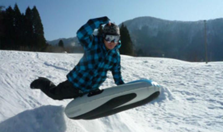 【北海道・大雪山・エアボード&スノーシュー】雪煙をあげて遊ぼう!手軽な半日プラン