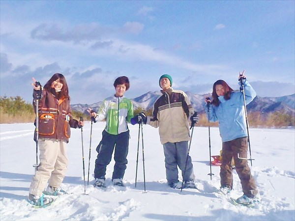 【1日・ランチ付き】両方楽しめる★スキーポッカール&スノーシュー1日プラン