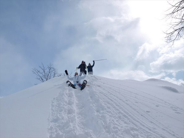 【半日】深雪を駆け降りろ!!スノーシューダウンヒルプラン