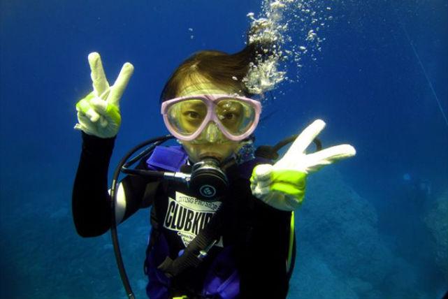 【体験ダイビング】青い海、積丹半島・ 海中公園で体験スキューバダイビング