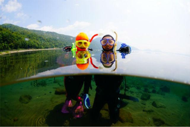 【体験ダイビング】水質5年連続日本一!北海道・支笏湖で体験ダイビング!