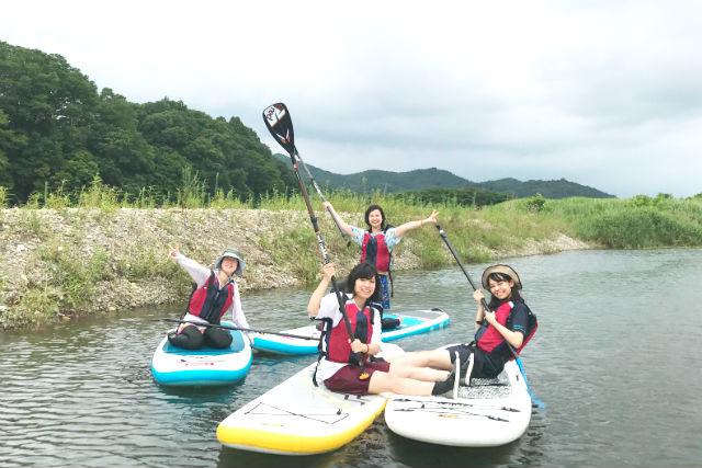 【茨城・那珂川・SUP】初心者向け体験SUP!那珂川の四季折々美しい景色を楽しもう