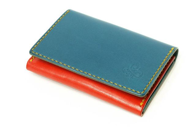 【愛知・レザークラフト体験・名刺・カードケース3ポケット】名刺やポイントカードをスマートに収納!