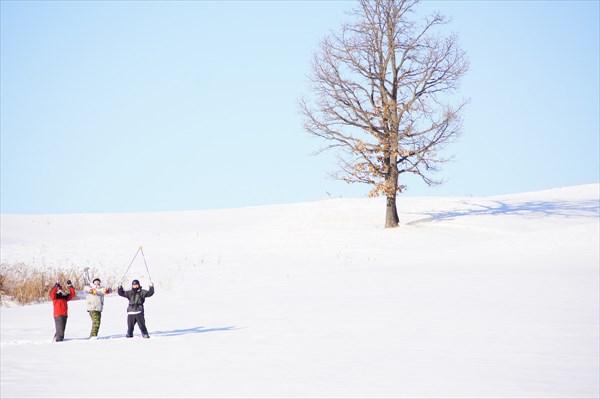 【十勝・スノーシュー・半日】北海道十勝の大地でスノーシュートレッキング!ホットドリンク付き!
