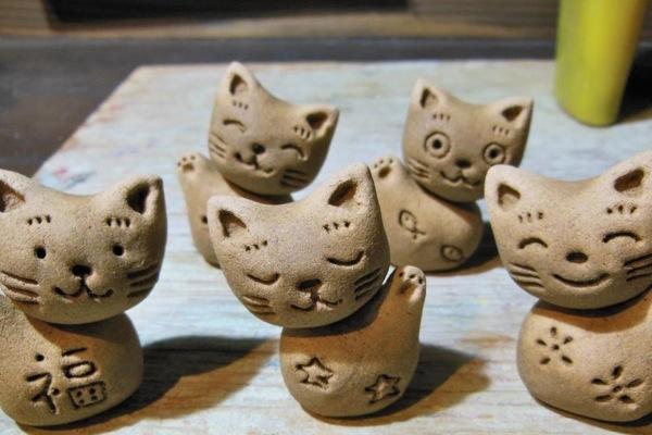 【九州・大分・人形作り】世界に一つの「福ねこ」。手びねりで人形作り体験