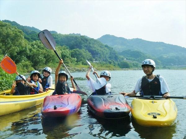 【和歌山・紀の川・半日・カヤック】ゆるやかな紀の川の流れに身を任せよう。半日カヌープラン