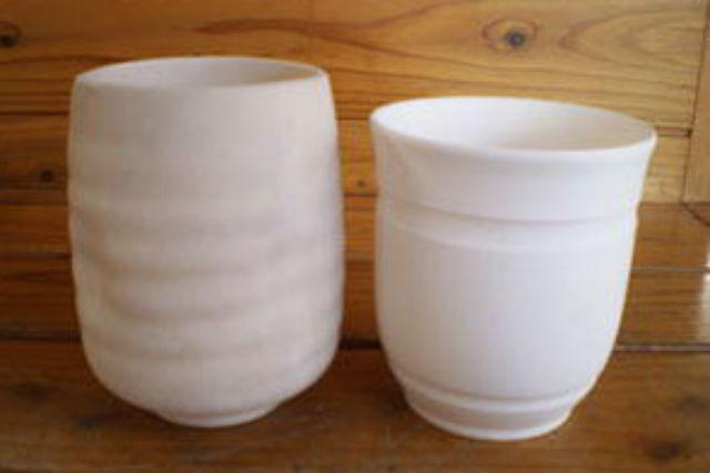 【北海道北見・陶芸】湯のみとカップからセレクト!オリジナルを描く陶芸絵つけ体験