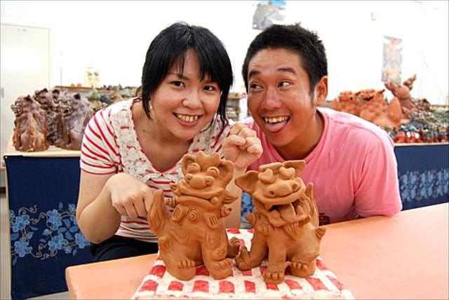 【沖縄・3時間・本格シーサー作り】じっくり楽しみたい人向け!沖縄・名護で本格陶器シーサー作り