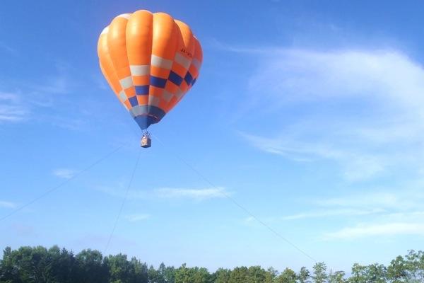 【十勝・熱気球・早朝】3歳から参加OK!360度のパノラマを楽しむ熱気球体験