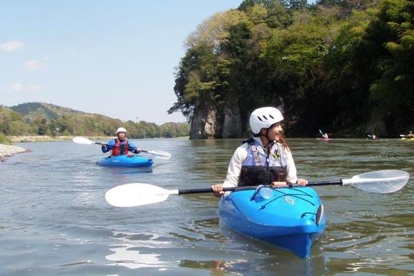 【茨城・那珂川・1日・カヌー】清流に揺られながら、のんびりパドリング。那珂川1日カヌープラン