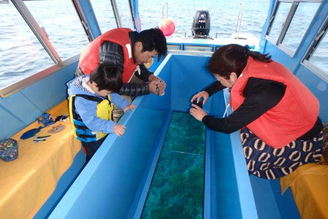 【沖縄・本部・グラスボート】美ら海水族館チケット付き!本部港発グラスボート